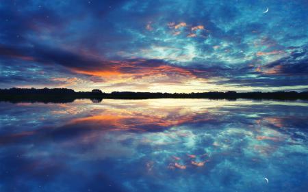 Картинки пейзаж, природа, отражение