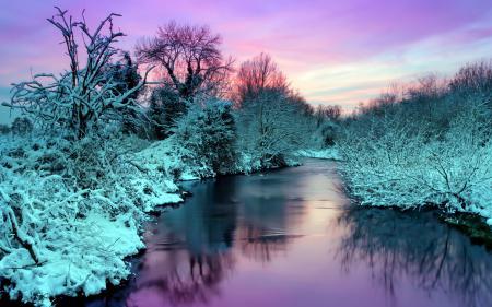 Картинки зима, река, природа, пейзаж