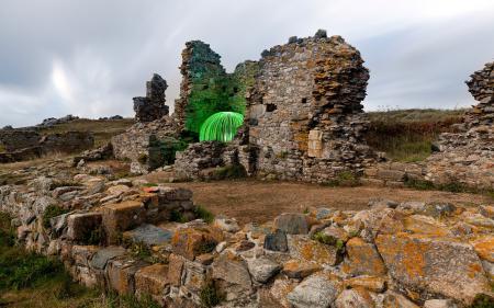 Фото руины, шар, пейзаж