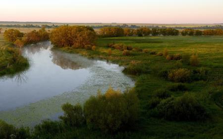 Фотографии утро, река, поле, Родина