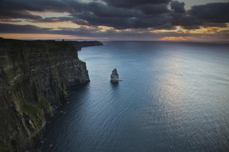 Фото Cliffs of Moher, Ireland, Atlantic Ocean, Утёсы Мохер