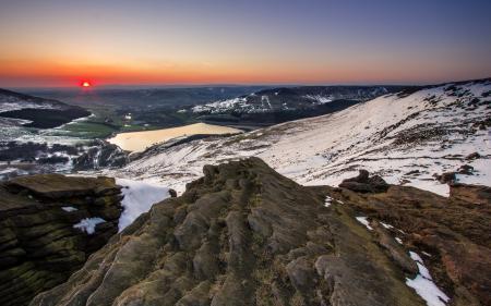 Фотографии горы, закат, природа, пейзаж