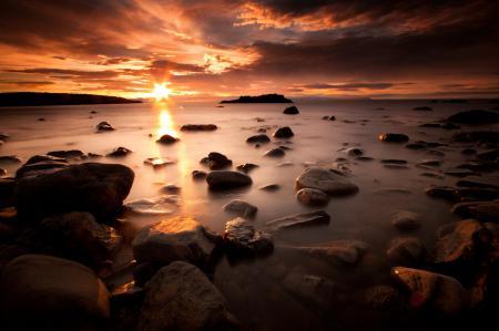 Фото пейзаж, природа, вода, камни