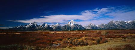 Обои пейзажи, обои, горы, поле