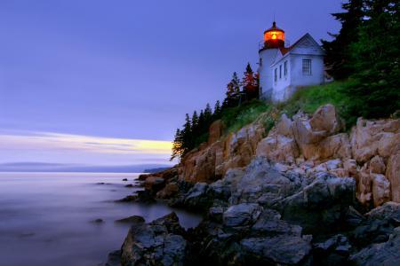 Заставки маяк, небо, море, скалы