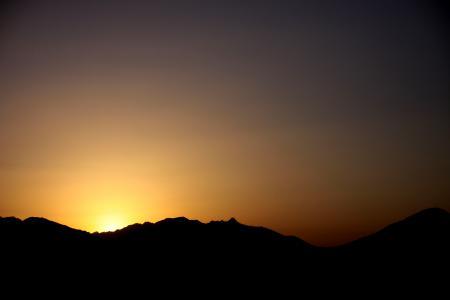 Фотографии небо, закат, горы, тень