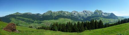 Картинки Горы, Холмы, Панорама, Небо
