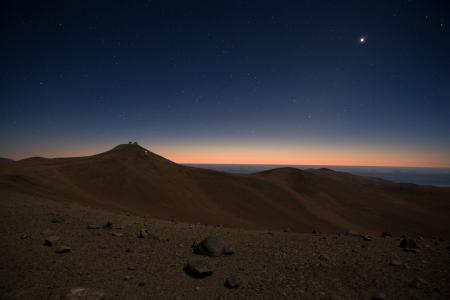 Картинки небо, звезды, горы, горизонт