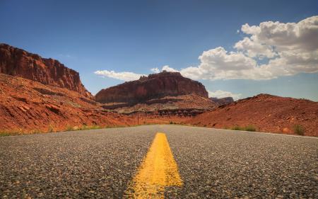 Обои пейзажи, дорога, дороги, америка