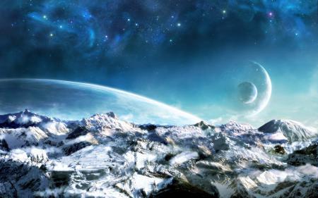 Фото землья, фэнтази, космос