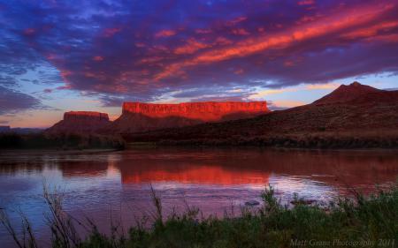 Фото озеро, горы, закат, Utah