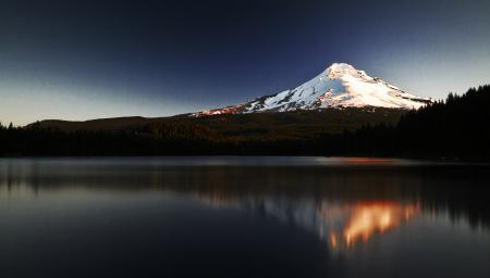 Обои гора, вода, отражение, горы