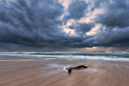 Фото море, пляж, небо, облака