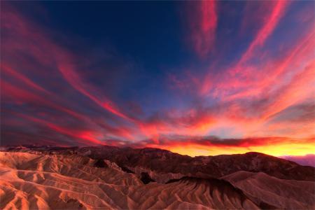 Заставки горы, небо, закат