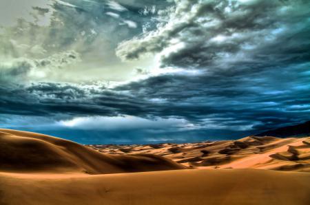 Картинки пустыня, небо, облака