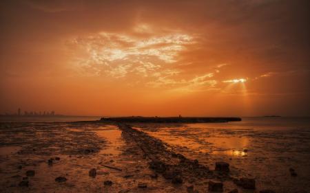 Картинки ночь, море, небо, пейзаж