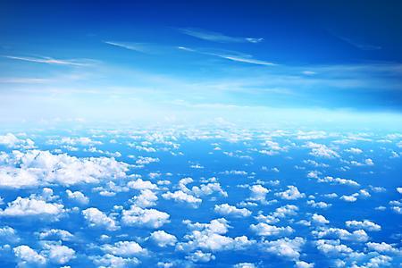Фотографии голубое небо, облака, высота