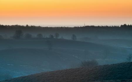 Фотографии закат, туман, пейзаж