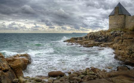 Фото море, камни, пейзаж