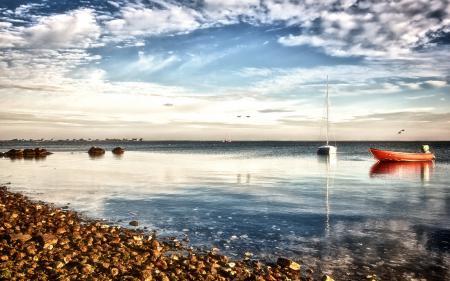 Фото море, лодки, пейзаж