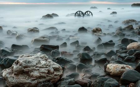 Фото море, камни, ночь, пейзаж