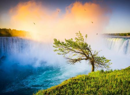 Фото пейзаж, природа, водопад, ниагарский водопад