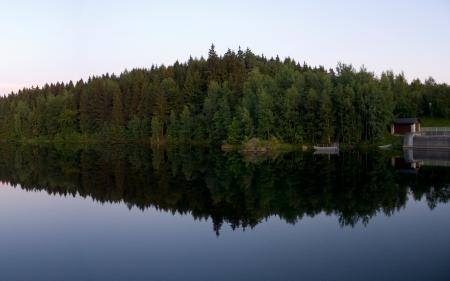 Обои пейзажи, природа, дома, леса