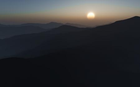 Картинки пейзажи, горы, солнце, вид