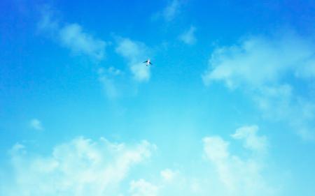 Картинки пейзажи, самолёты, небо, облака