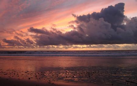 Фотографии берег, пляж, закат