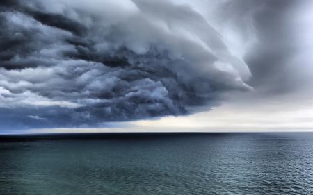 Фото море, океан, облака, шторм