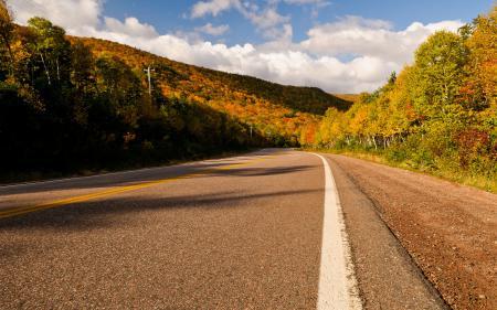 Заставки дорога, осень, обочина, песок