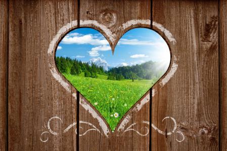 Фото Heart view, landscape, пейзаж, горы