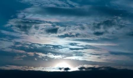 Фото закат, солнце, облака