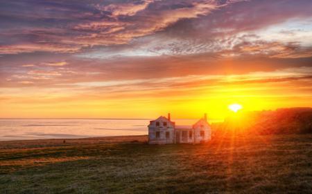 Фотографии пейзажи, природа, закаты солнца, поле