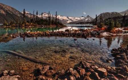 Заставки камни, вода, речка, горы