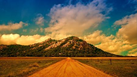 Фотографии дорога, горы, облака, пейзаж