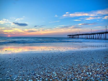 Картинки океан, закат, пляж, волны