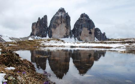 Заставки Горы, Скалы, Высота, Водоем