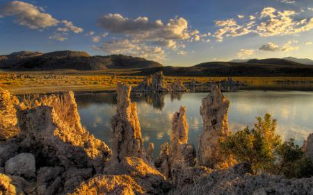 Обои California, Mono lake, Eastern sierras, озеро