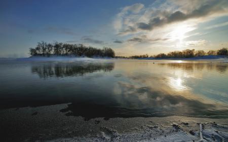 Картинки Природа, озеро, берег, деревья