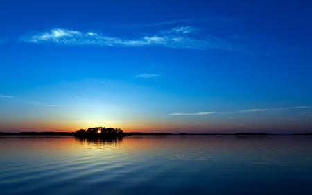 Заставки закат, море, отражение, небо