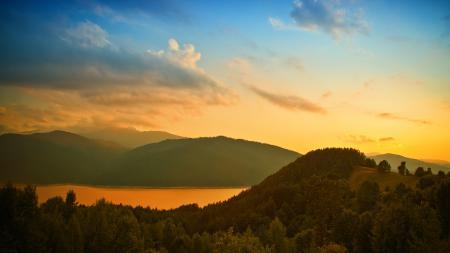 Фотографии пейзаж, природа, закат, солнце