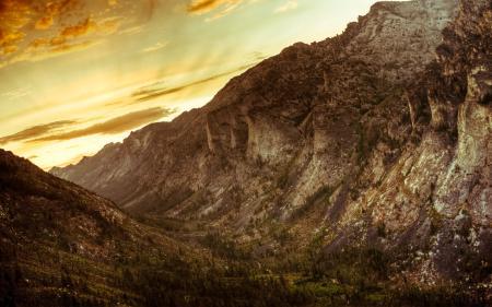 Фото каньон, горы, закат, Монтана