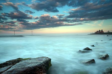 Картинки море, закат, природа, пейзаж