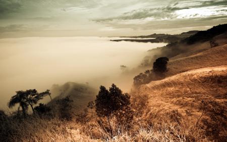 Обои горы, небо, облака, пейзаж