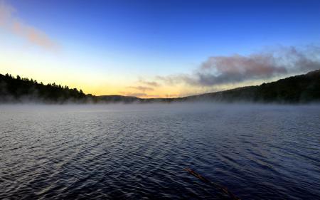 Заставки утро, озеро, природа, пейзаж