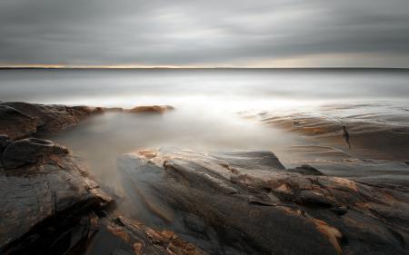 Картинки море, камни, ночь, пейзаж