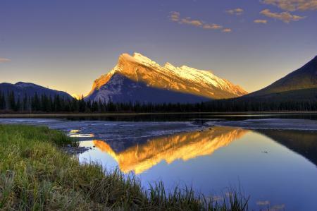 Фото горы, отражение, вода, озеро
