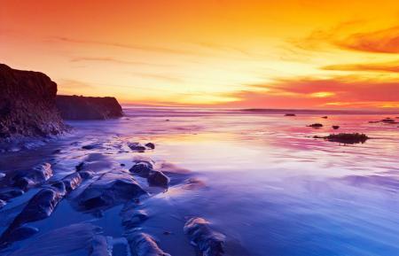 Заставки небо, закат, море